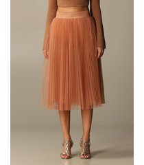 elisabetta franchi skirt elisabetta franchi flared skirt in pleated tulle