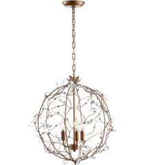 "jonathan y isabelle 20"" adjustable metal/glass led pendant"