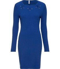 abito in maglia con applicazioni (blu) - bodyflirt boutique