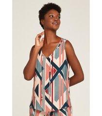 blusa geo stripes ilhoses feminina