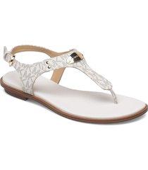 mk plate thong shoes summer shoes flat sandals vit michael kors