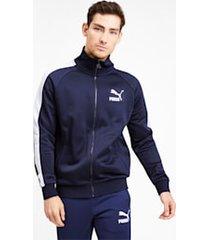 iconic t7 track jacket, blauw, maat xs   puma