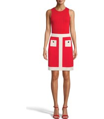women's anne klein colorblock skirt, size xx-large - red