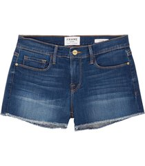 'le cut off williams' raw edge cuff denim shorts