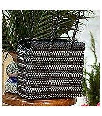 plastic tote, 'perfect stripes' (mexico)