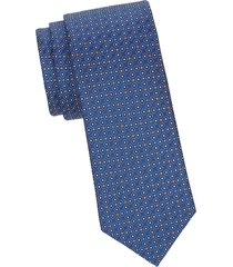 canali men's embroidered silk tie - blue