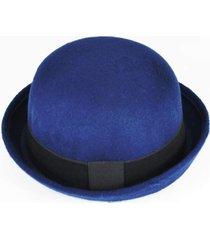 chápeu bowler coco chaplin azul marinho