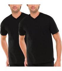 schiesser 2 stuks essentials american t-shirts v-neck * gratis verzending *