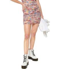 falda rosa-multicolor glamorous