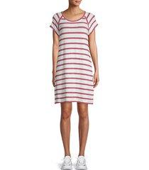 striped roundneck dress