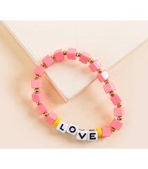 women's cubed love bracelet in fusha by francesca's - size: one size