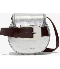 proenza schouler buckle mini crossbody bag silver/metallic one size