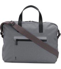 ally capellino mansell briefcase bag - grey