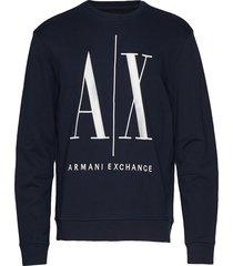 armani exchange felpa sweat-shirt trui blauw armani exchange