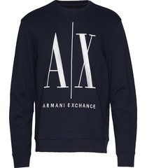 ax man sweatshirt sweat-shirt trui blauw armani exchange