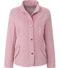 gewatteerde jas staande kraag van mayfair by peter hahn paars