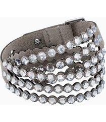 braccialetto swarovski power collection, bianco