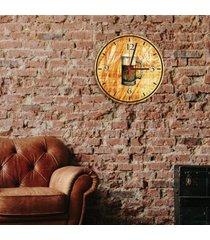 relã³gio de parede decorativo caneco de chopp ãšnico - multicolorido - dafiti