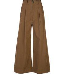 co winter poplin trousers - brown