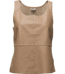 ellen top t-shirts & tops sleeveless beige twist & tango