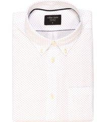camisa murray manga larga color siete para hombre - blanco