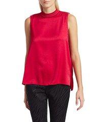 rag & bone women's letti high-neck chevron top - red pink - size l
