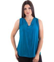 blusa en chalis azul petroleo s bocared lorena  2701840
