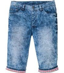 långa jeansbermudas, normal passform