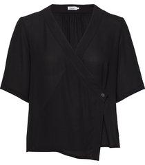 reagan blouse blouses short-sleeved zwart filippa k
