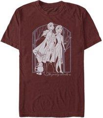 fifth sun men's forest frame short sleeve crew t-shirt