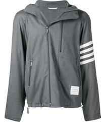thom browne double-zip raglan jacket - grey