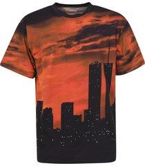buscemi skyline print hoodie