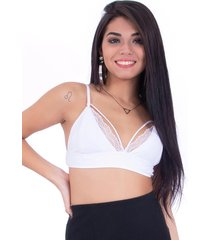 top up side wear renda branco