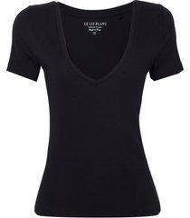 blusa le lis blanc clarice i malha preto feminina (preto, gg)
