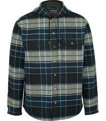 wolverine men's bucksaw bonded shirt jac dark slate plaid, size xxl