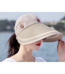 sombrero de sol al aire libre de verano femenino-khaki