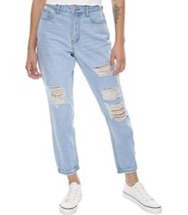 jeans mom básico destroyed azul oscuro  corona