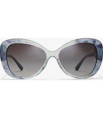 mk occhiali da sole positano - blu (blu) - michael kors