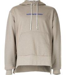 off duty 'pleasure before business' hoodie - grey