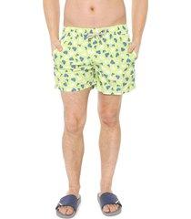 bermuda água shorts co quadrada mergulho verde
