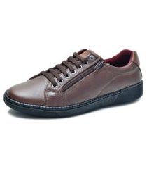 sapatênis over boots couro soft marrom