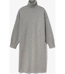 proenza schouler white label cashmere blend turtleneck dress grey melange/black m
