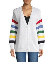 striped wool-blend cardigan