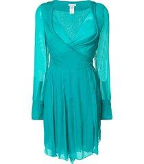 céline pre-owned chiffon dress - green