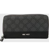 billetera negro-gris nine west