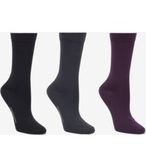 donna karan soft microfiber 3 pc crew dress sock