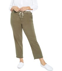 plus size women's nydj belted relaxed ankle pants, size 16w - green