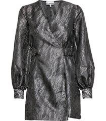 jacquard korte jurk zwart ganni