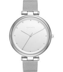 skagen women's tanja stainless steel mesh watch 38mm