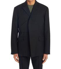 men's ambush belted wool jacket, size 38 us - black